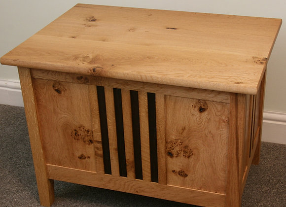 Oak Chest with fumed oak details