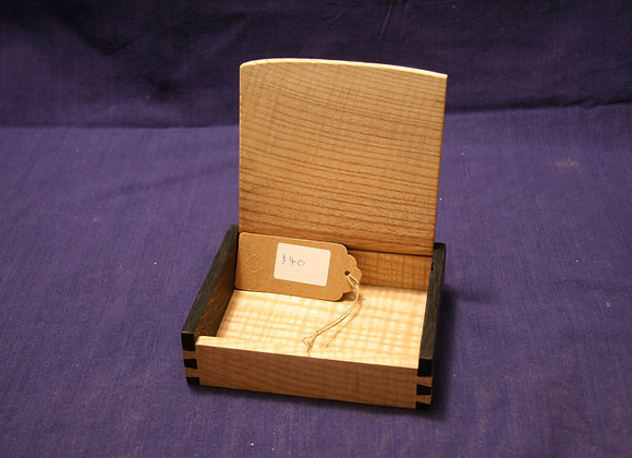 Small rippled ash and bog oak box