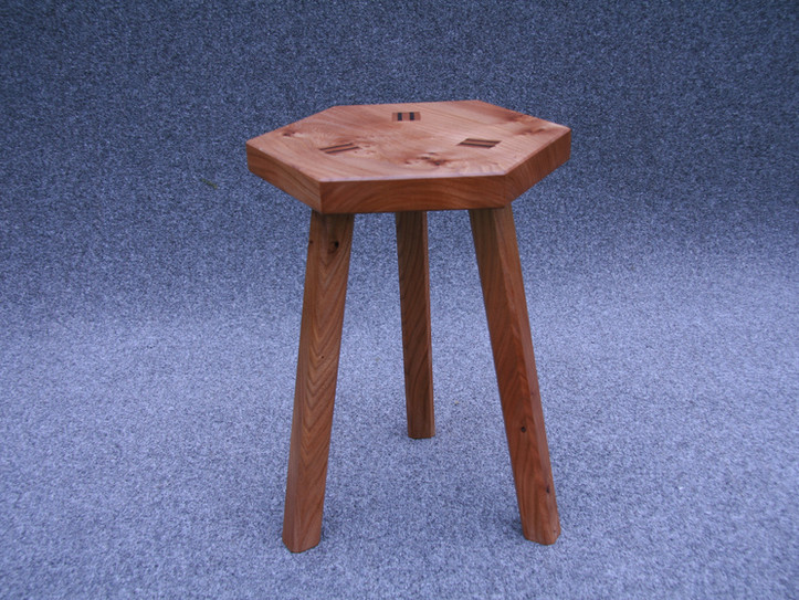 Reclaimed Elm Milking Stool