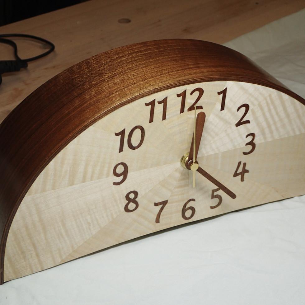 Walnut and Sycamore clock