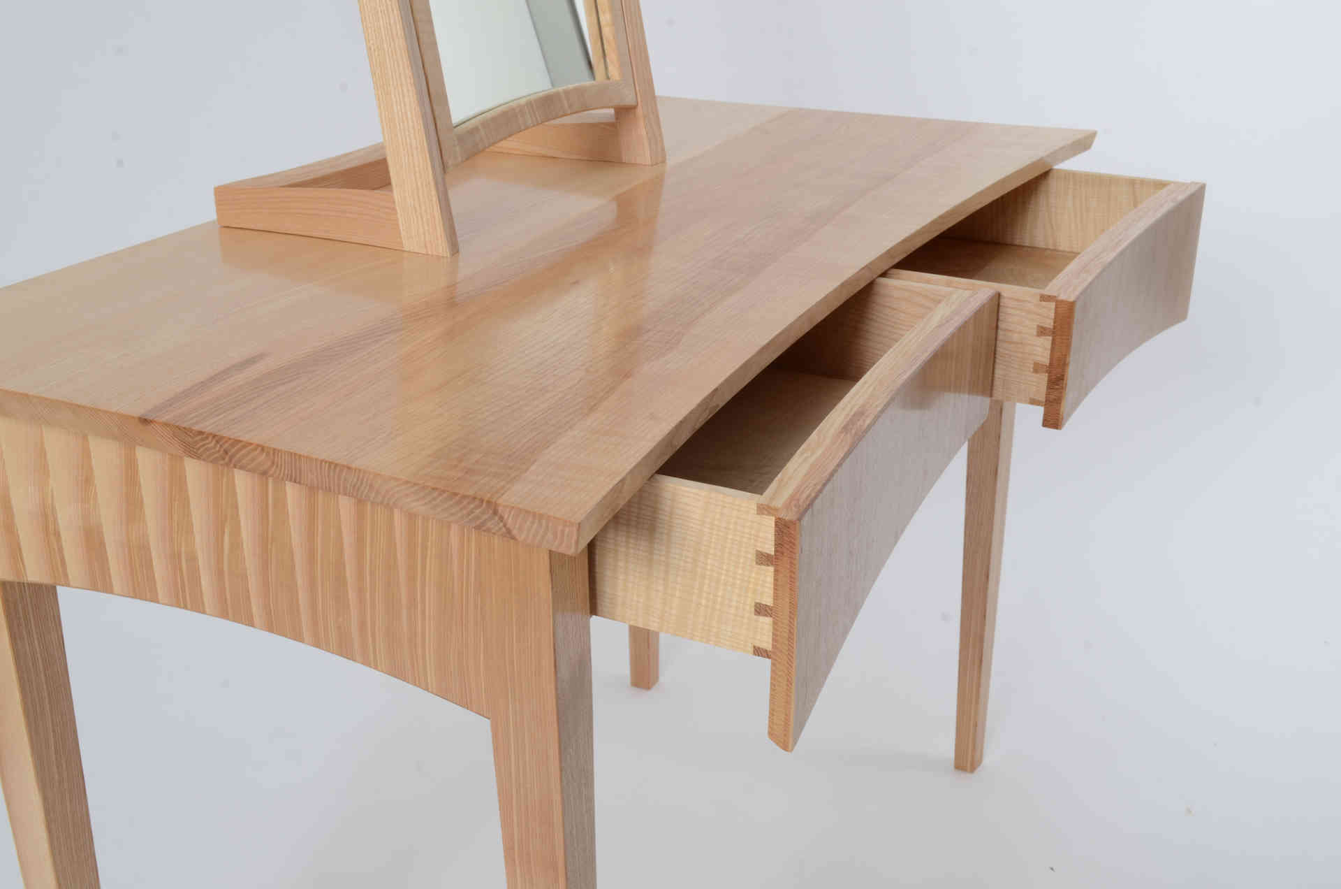 Rippled Ash Dressing Table or desk