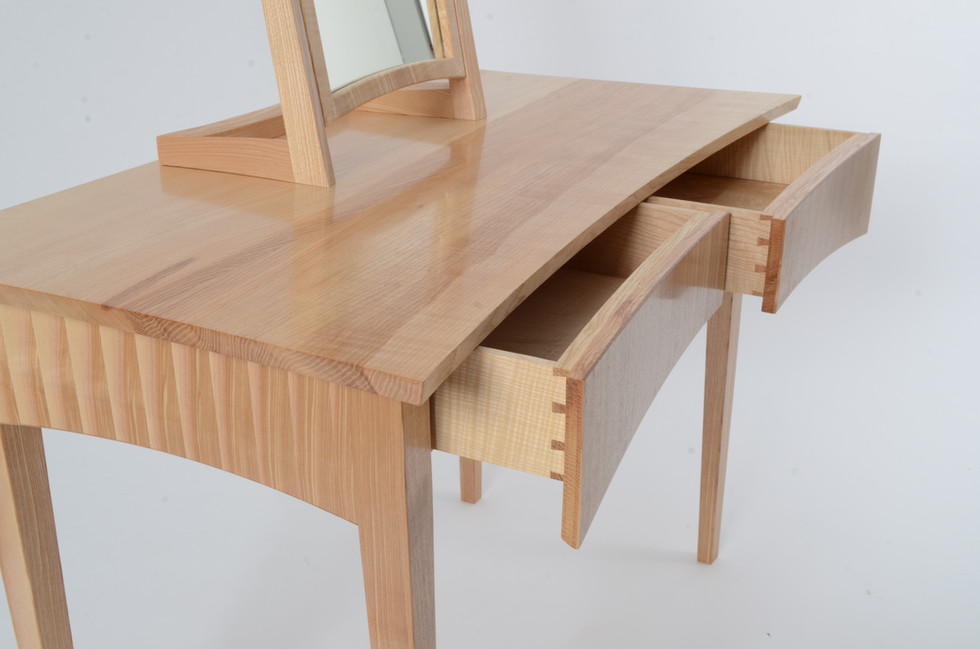 Rippled Ash Dressing Table or desk