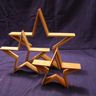 Stars for Christmas decorations.