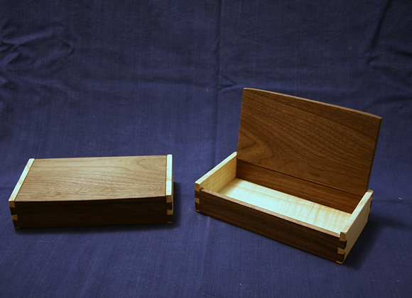 Rippled Ash and Walnut box