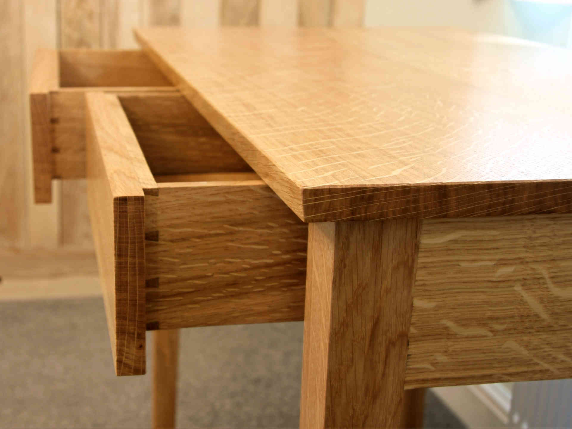 Oak desk with two drawers