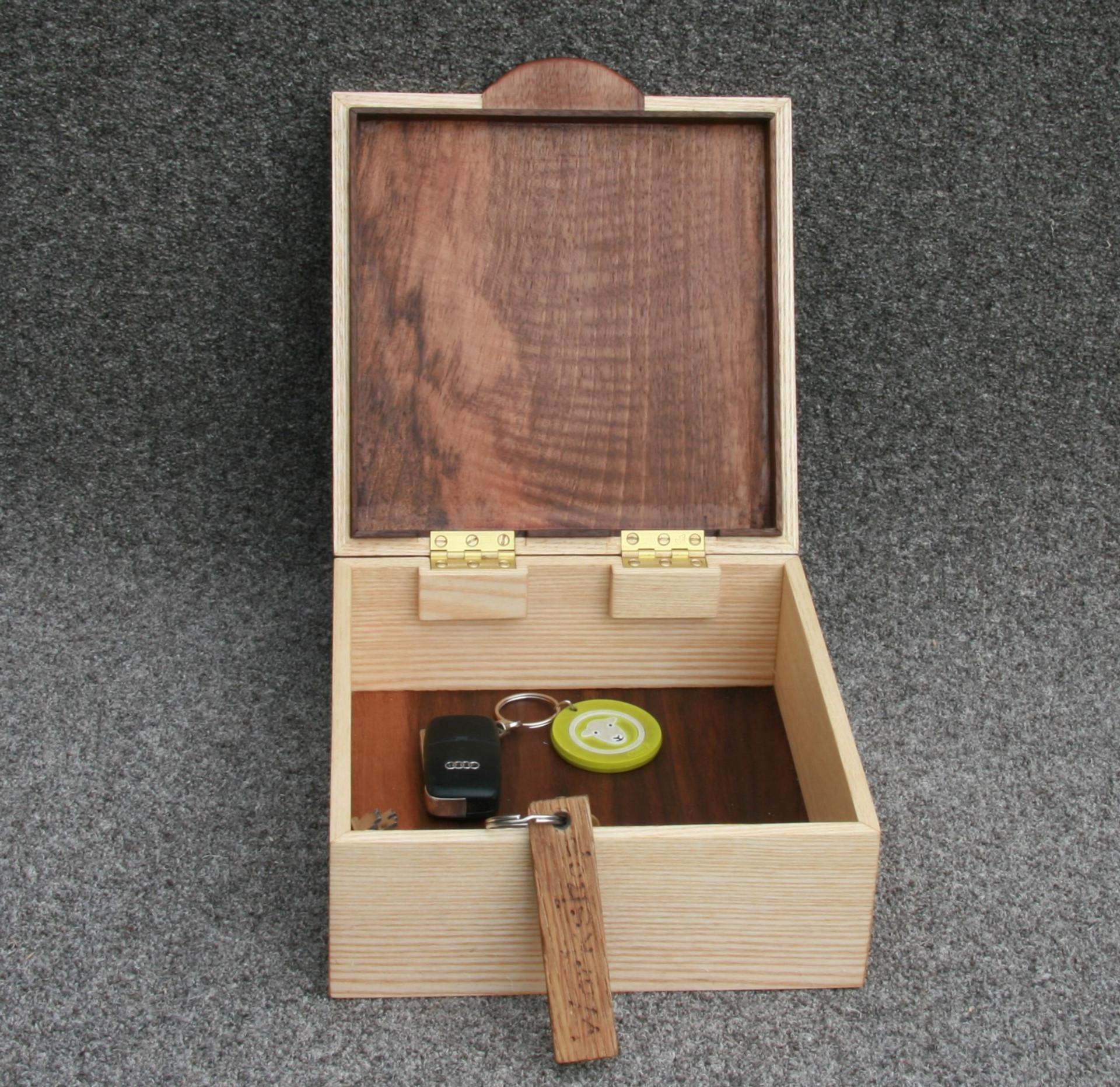 Walnut and Ash key box