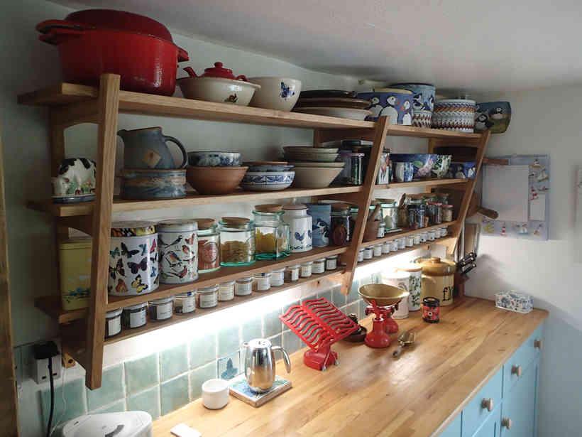 Oak Kitchen Shelves