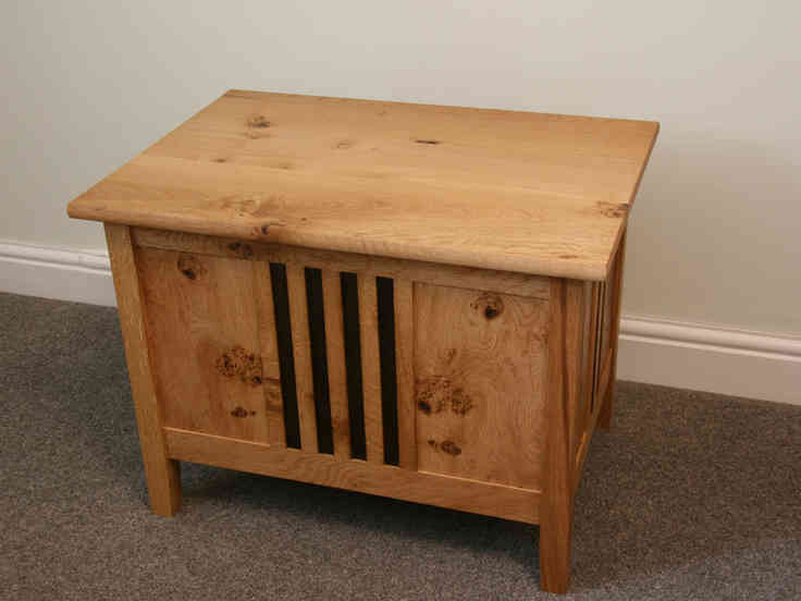 Oak Coffee Table and Chest