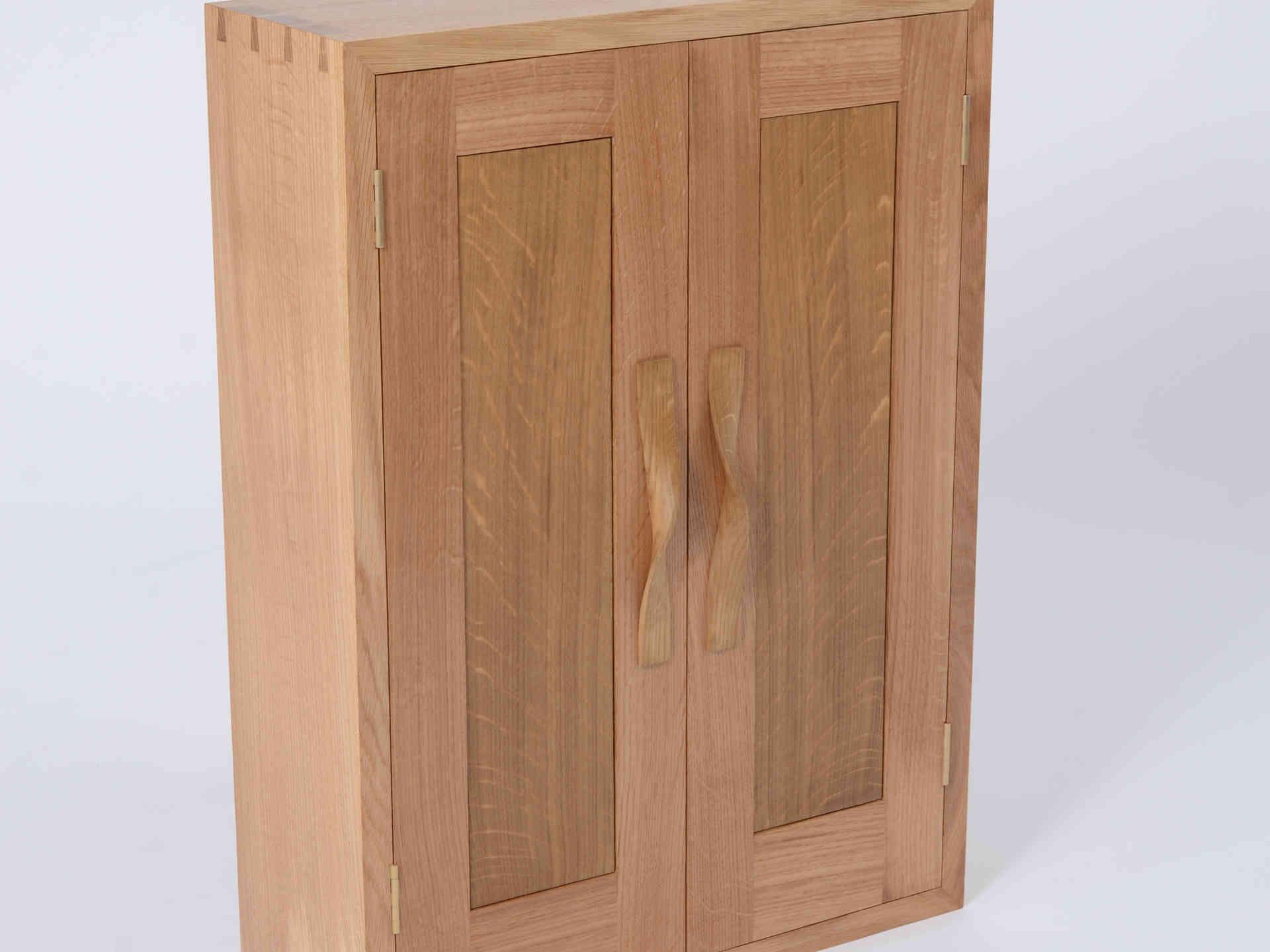 Small Oak Wall Cabinet