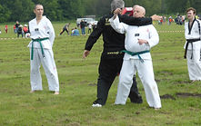 NMA Fitness Tae Kwon Do demonstration with older adult
