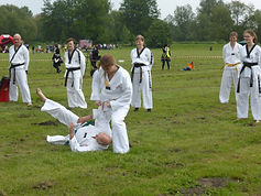 NMA Fitness Martial Arts Tae Kwon Do demonstation in Mildenhall