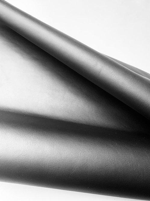 Rundsleder - zwart met lichte glans - 9vt