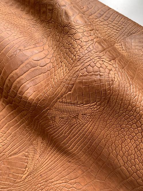 rundsleder - crocoprint camel - 13vt