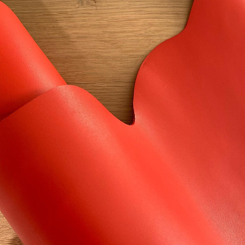 rundsleder rood/oranje (gladde structuur)