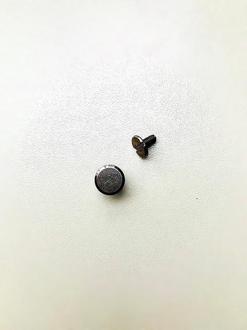 chicagoschroef - gunmetal - kop 9mm/hoogte 4mm-7mm