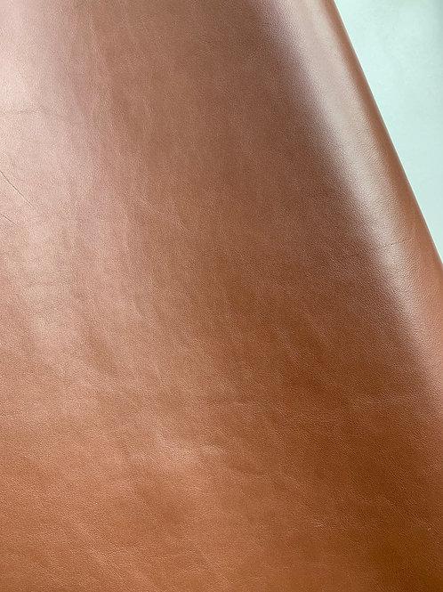 Rundsleder - chocoladebruin - gladde structuur - NOG 1/2 beschikbaar