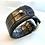 Thumbnail: armband in leder - zwart/brons