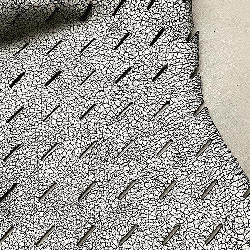 nubuck met witte coating, geperforeerd