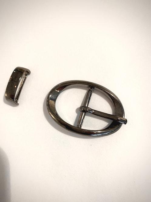 designer-gesp gunmetal 19mm met passant