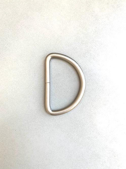 D-ringen - nikkel mat / lichtgoud / gunmetal