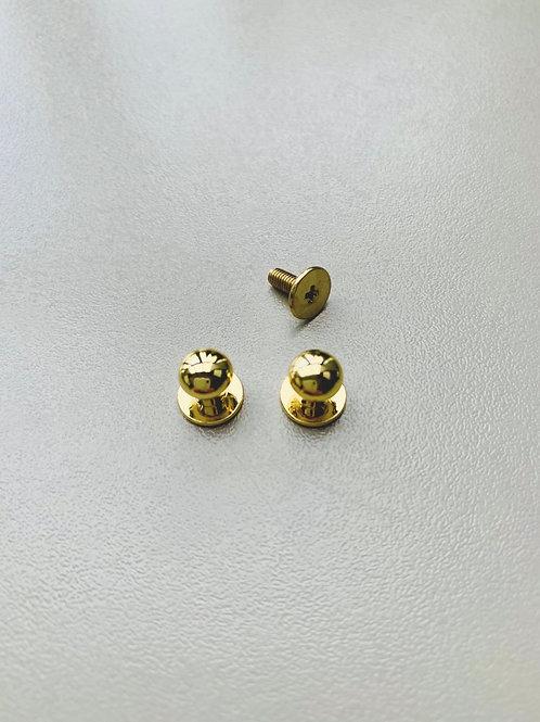 geweerknopje - licht goudkleurig
