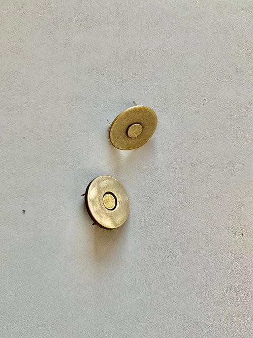 Magneet oud goud - 14 x 2mm