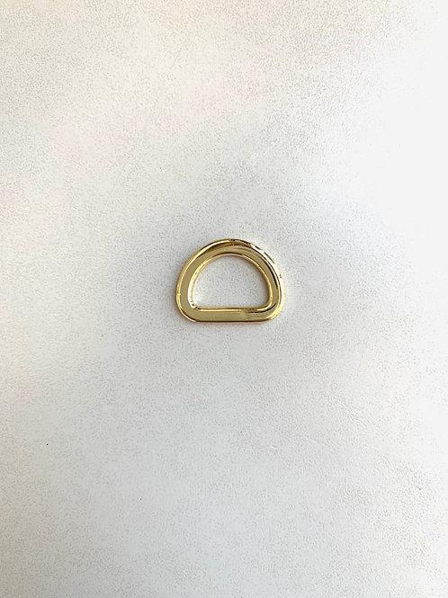 D-ring - lichtgoud