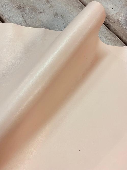rundsleder - mengeling van crème, roze en lichtgrijs -VERKOCHT
