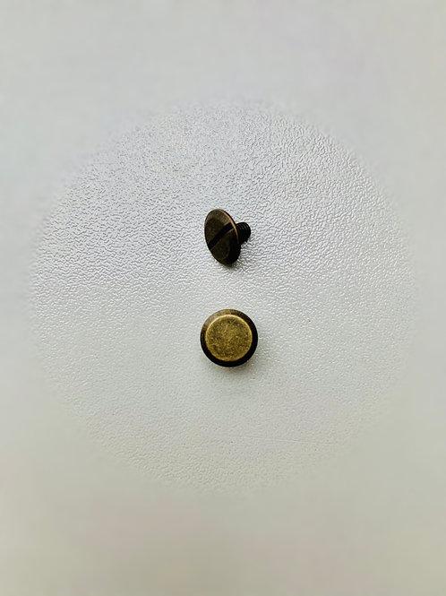 chicagoschroef- bronskleurig - kop 9mm/hoog5mm