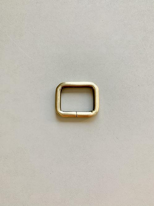 vierkante ring - geborsteld brons - 25mm