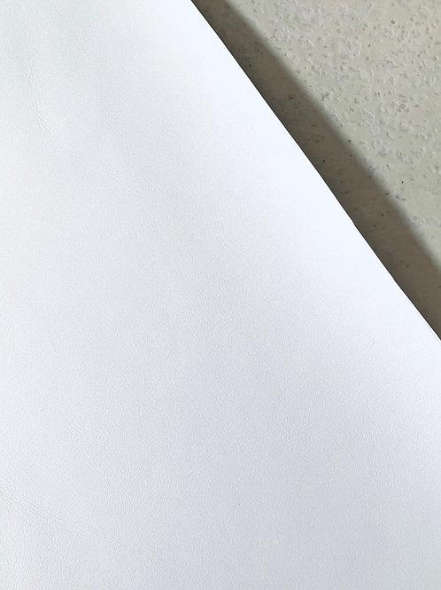 Rundsleder wit met gladde structuur