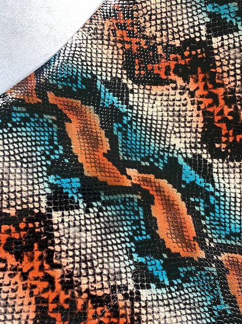 """special"" - python blauw/oranje - met laklaag"