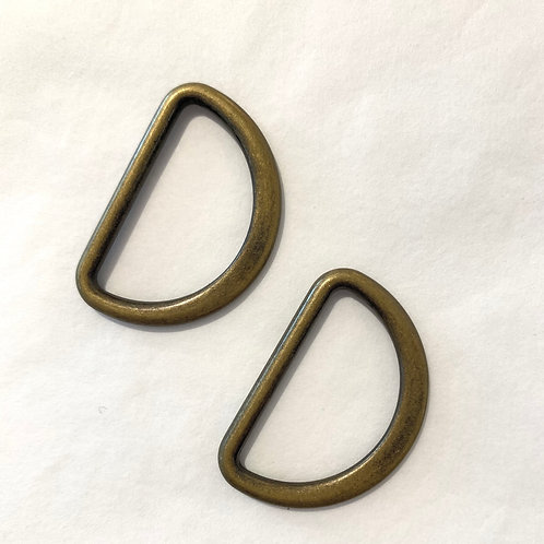 designer D-ringen 30mm - brons