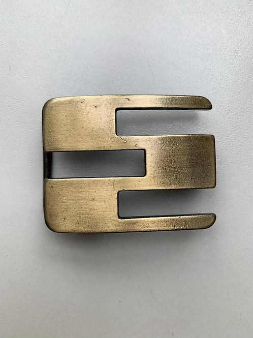 doorsteekgesp brons - riembreedte 40mm