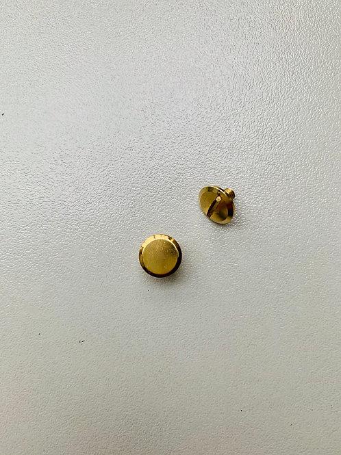 chicagoschroef - goudkleurig - kop 9mm/hoog 7mm