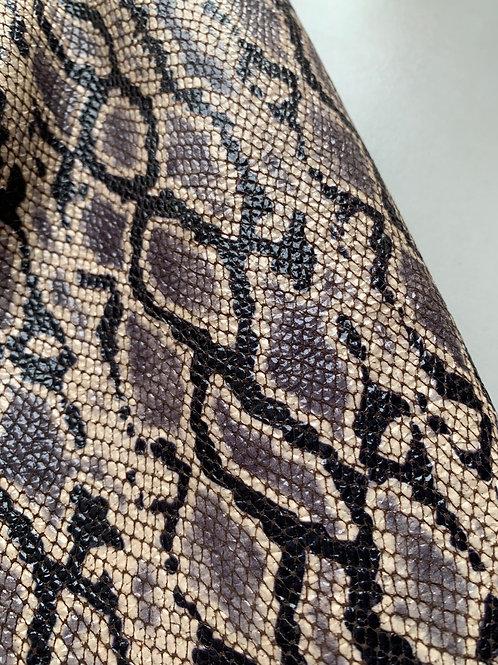 rundleder met slangenprint