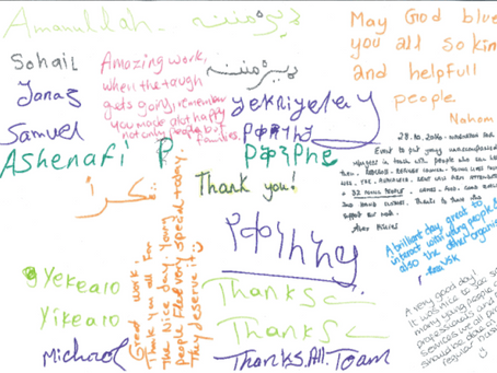CSPA's Refugee Appeal – BIG THANK YOU!