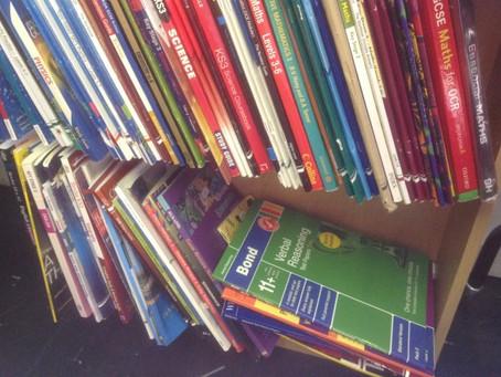 GCSE books and Polo shirts