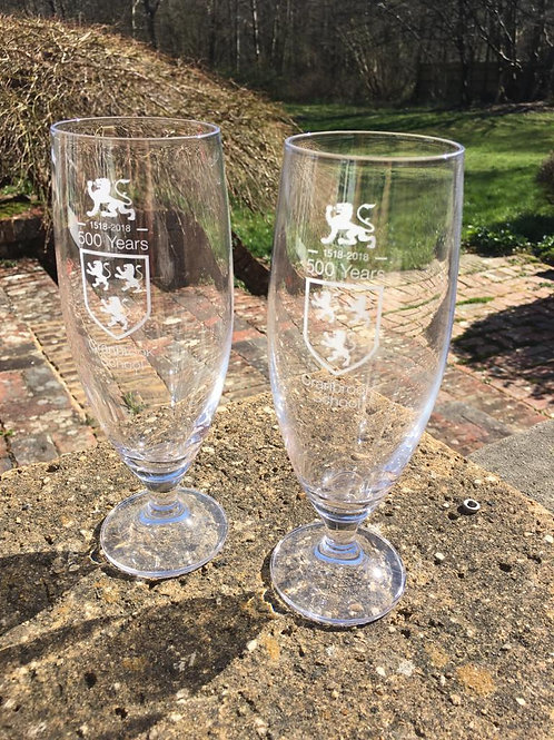 Limited Edition Quincentenary Ale Glasses x 2