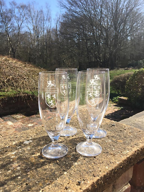 Limited Edition Quincentenary Ale Glasses x 4