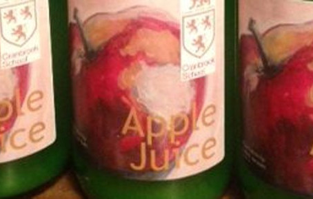 Raise a toast to Cranbrook School Apple Juice .  .  . it's on sale!