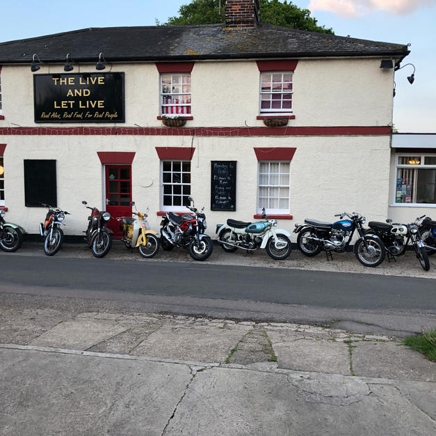 Bikes at the Live & Let Live Pub 2019