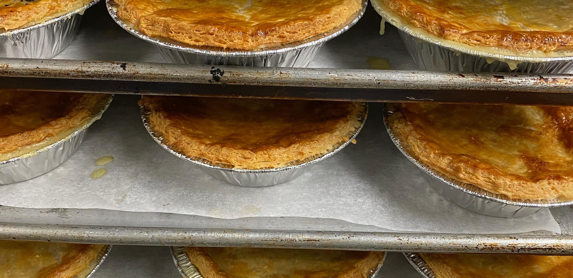 Fresh made pies