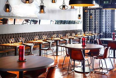 restaurant room after bespoke interior design project