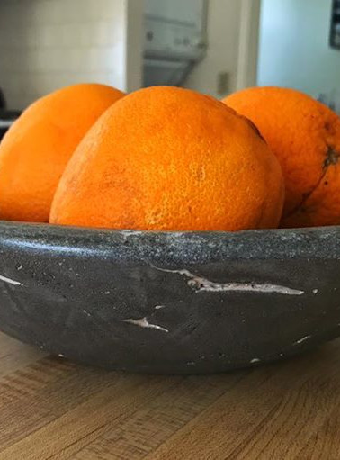 A concrete fruit bowl from Elements