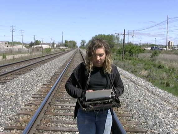 """""""Typing Performance,"""" video, 2010"""