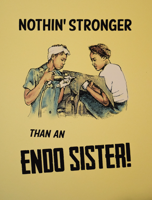 """Endo Sister,"" Screen print, 2018"