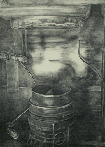 """Past Generation"", stone lithograph, 2007"
