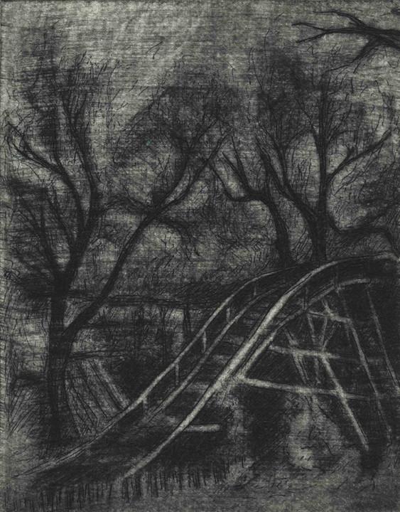 """""""Empty Grove"""", etching and mezzotint, 2011"""