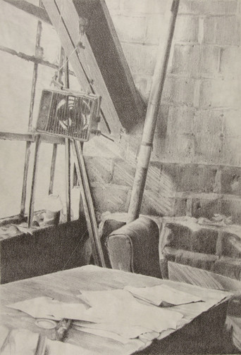 """""""Office"""", stone lithograph, 2006"""